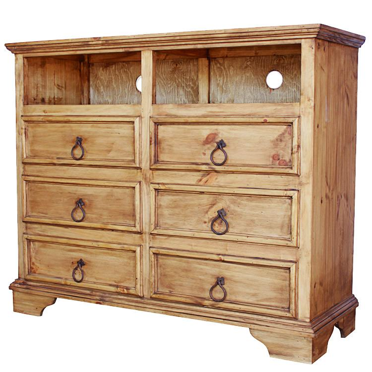 Rustic Pine Drawer Tv Stand Product Photo