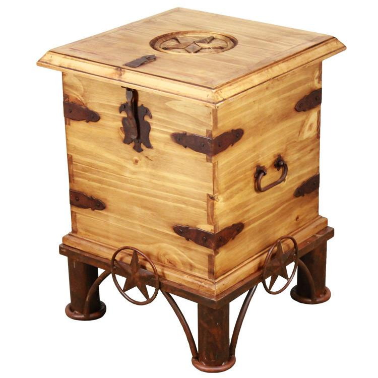 Rustic Pine End Table Trunk Base Product Photo