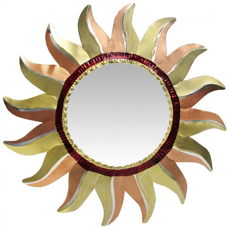 Painted Tin Mirrors Collection Sun Mirror Pmir270