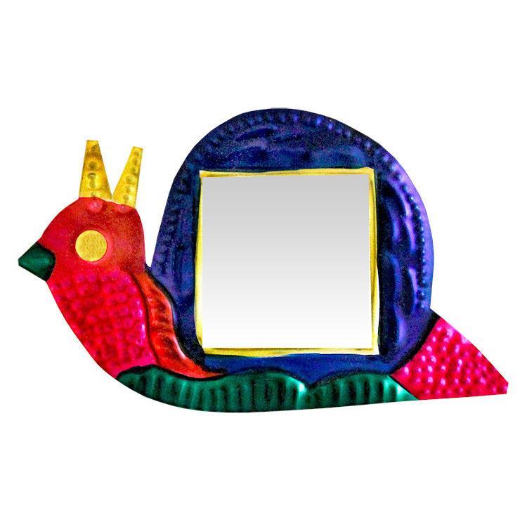 Snail Tin Ornament w/ Mirror