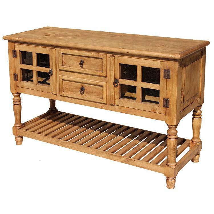 Rustic Pine Collection Doria Console Table Com039