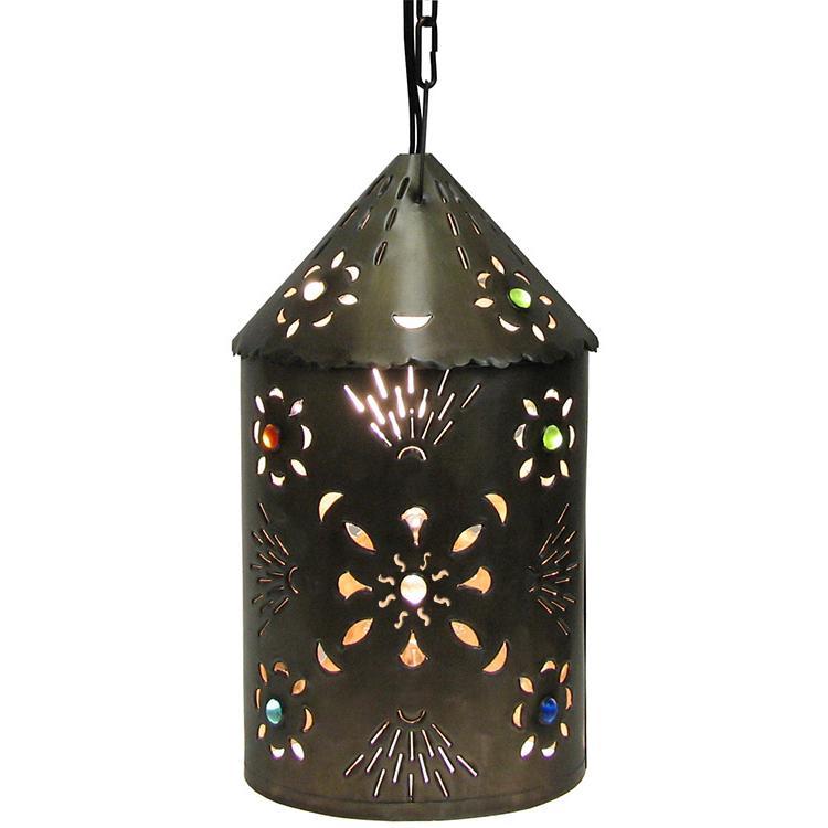 Tin Puebla Lantern Marbles Oxidized Product Photo