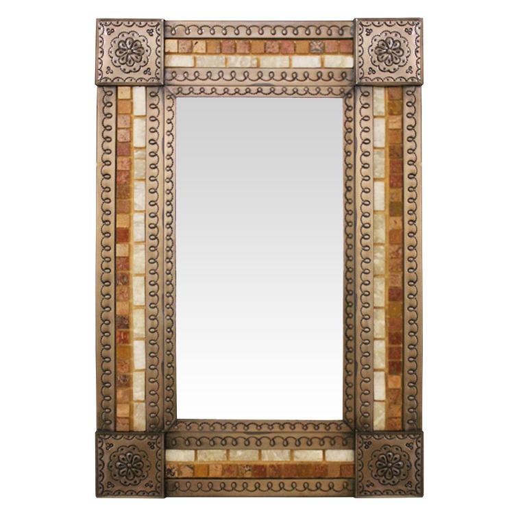 Tin Stone Mirror Copper Product Photo