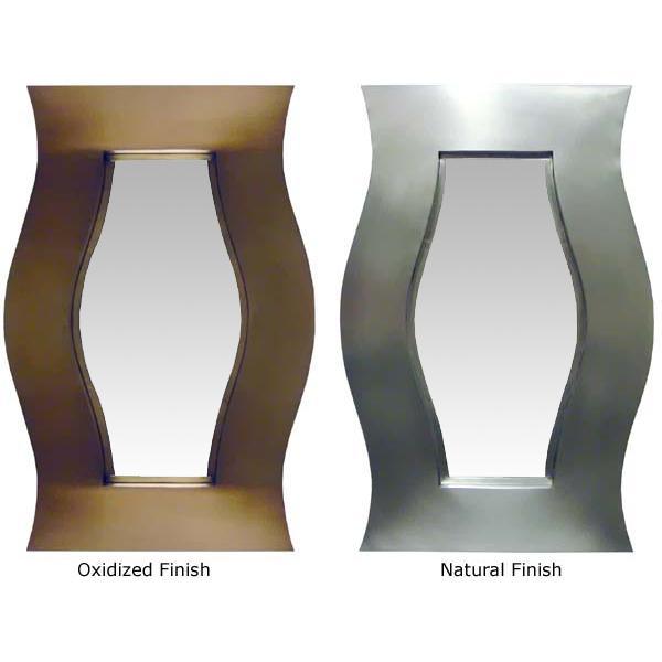 Small Hourglass Tin Mirror - Natural Finish