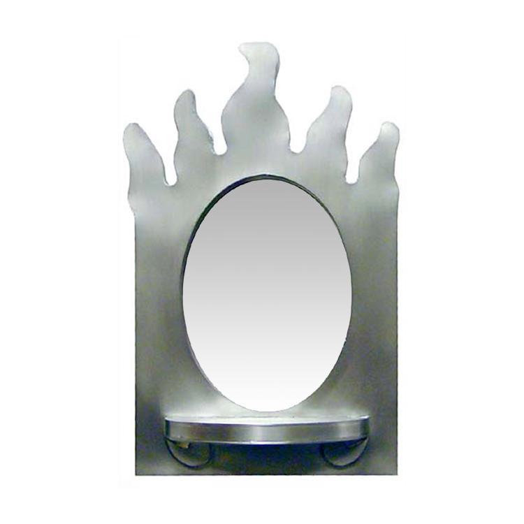 Flame Shelf Tin Mirror Natural Product Photo