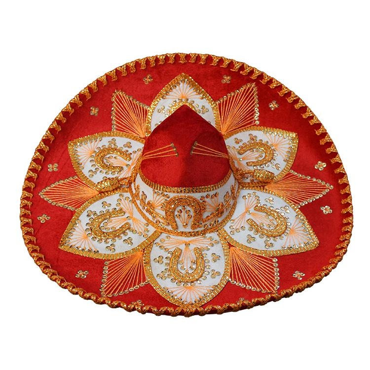 Large Red & Gold Sombrero
