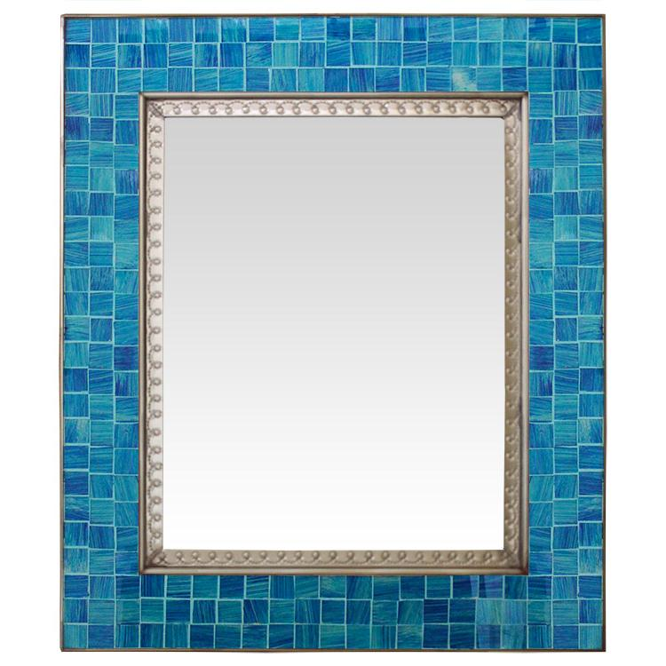 Glass Tile Mirror Blue Glass Tiles Product Photo