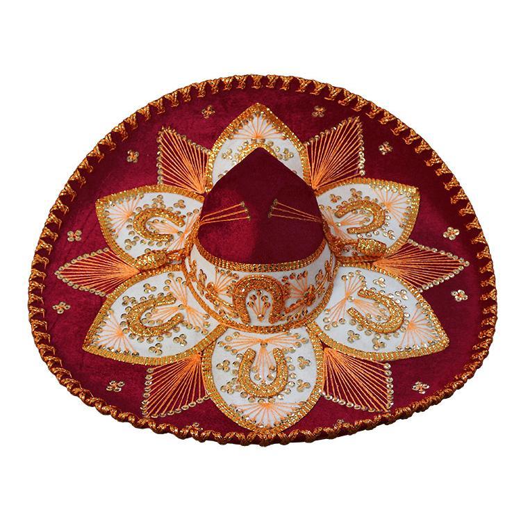 Mexican Sombreros Collection Crimson Amp Gold Charro