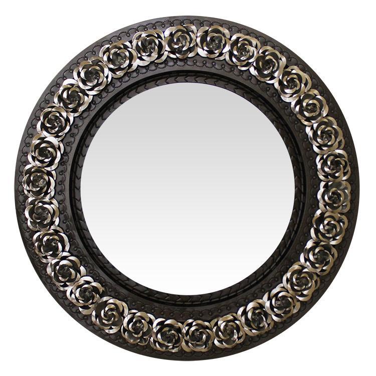 Round Rose Tin Mirror Mixed Product Photo