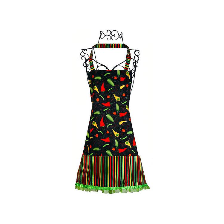 Large Chili Peppers Kitchen Apron