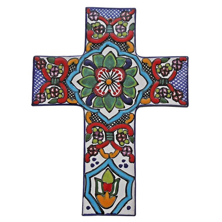Hand-Painted Talavera Cross
