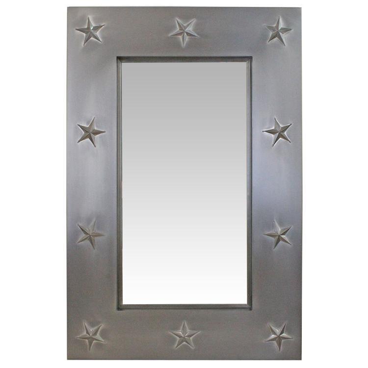 Texas Star Tin Mirror - Natural Finish