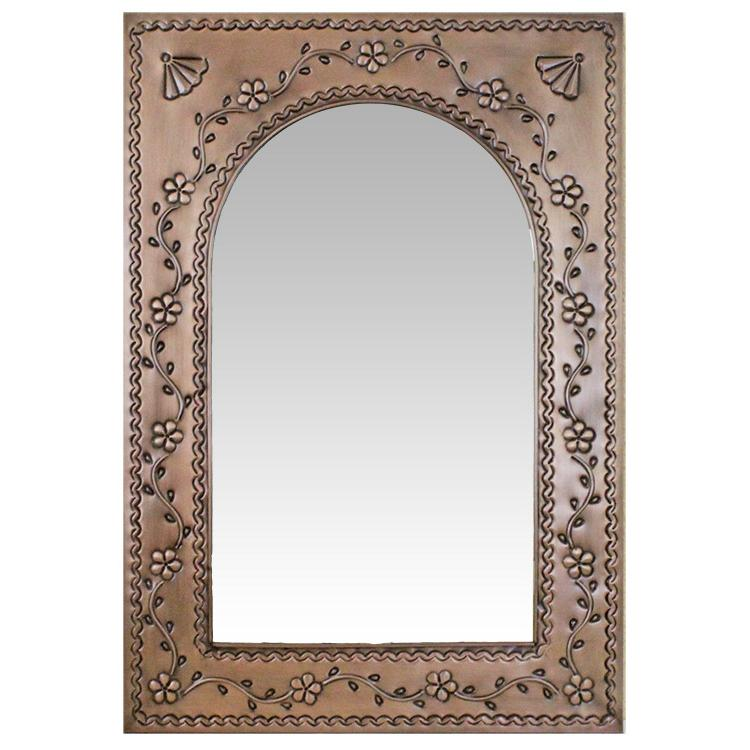 Cathedral Tin Mirror - Oxidized Finish