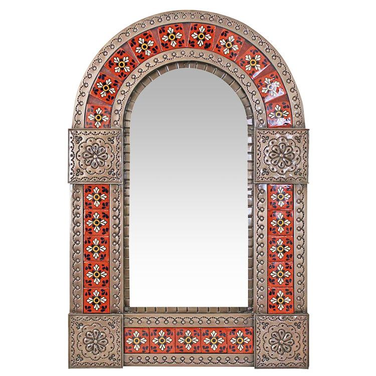 Arched Tile Mirror Oxidized Product Photo