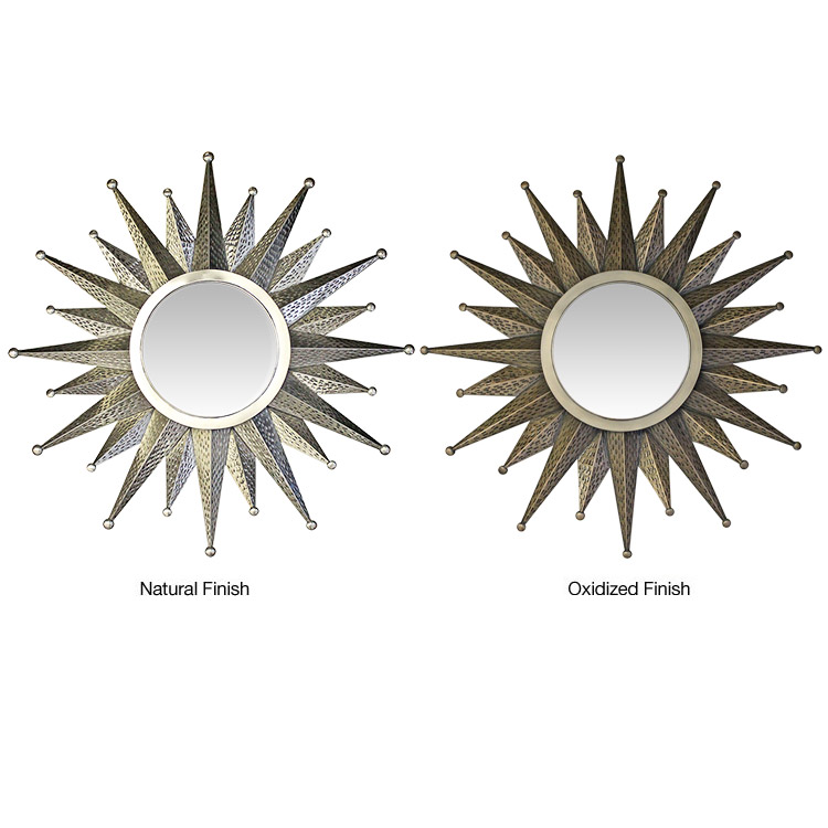 Medium Star Tin Mirror - Natural Finish