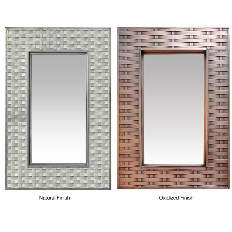 Square Woven Tin Mirror Oxidized Product Photo