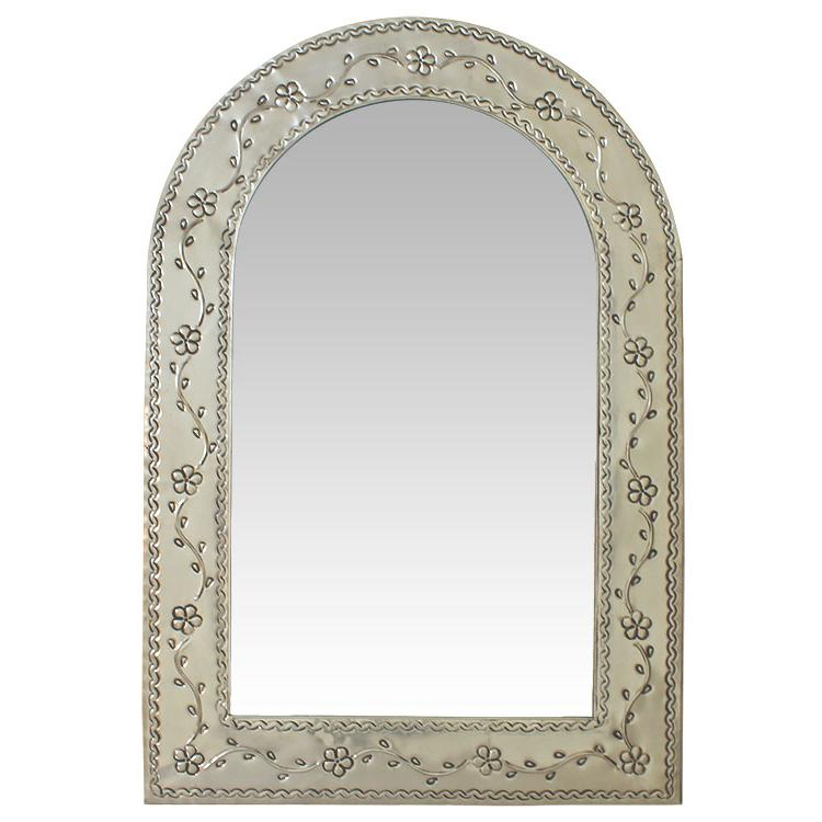 Arched Tin Mirror Natural Product Photo