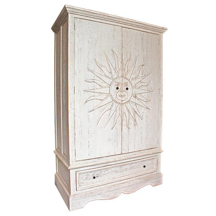 Rustic Armoire Dark Brown Product Photo