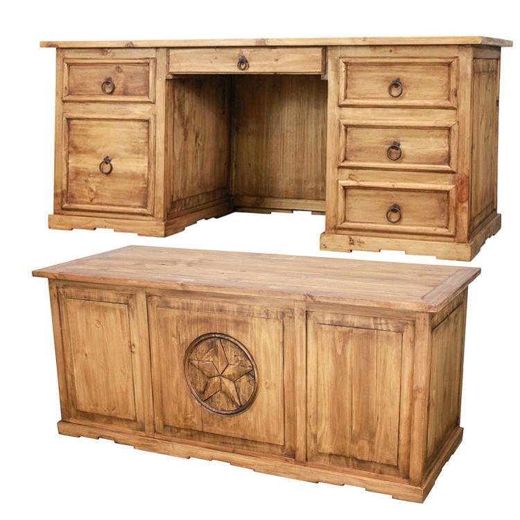 La Fuente Executive Mexican Rustic Pine Desk Drawer