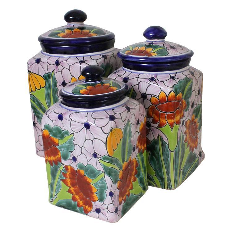 Talavera Sealed Canister Unique Kitchen Sets