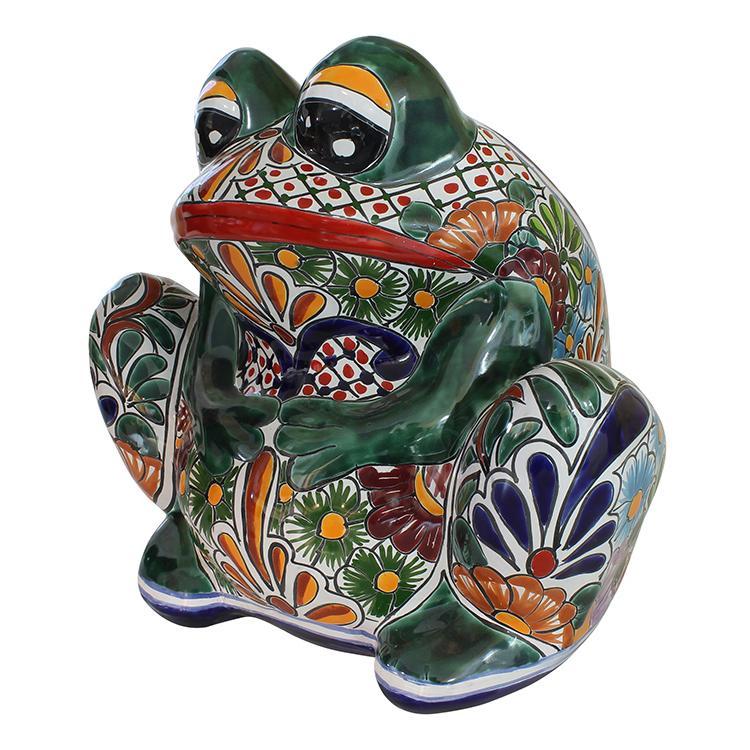 Large Talavera Frog Planter