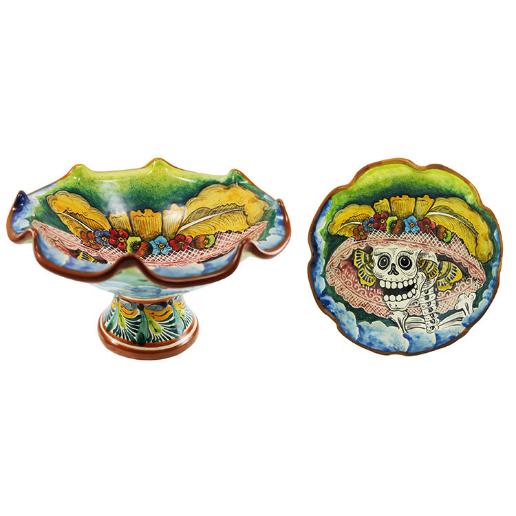 Small Majolica Fruit Bowl