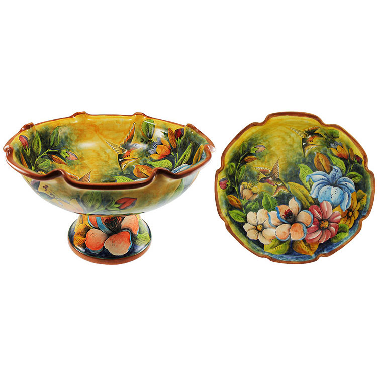 Large Majolica Fruit Bowl