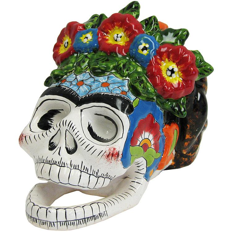 Talavera Frida Kahlo Skull