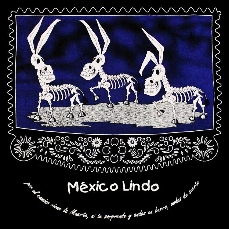Day of the Dead Los Burros Black Extra Large T-Shirt