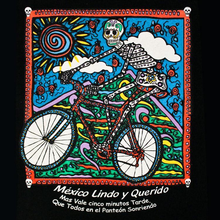 Day of the Dead La Montana Black Large T-Shirt