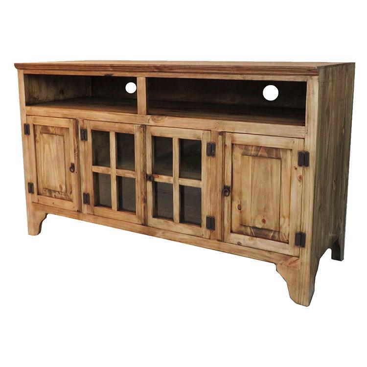 Pine Tall Tv Stand Product Photo
