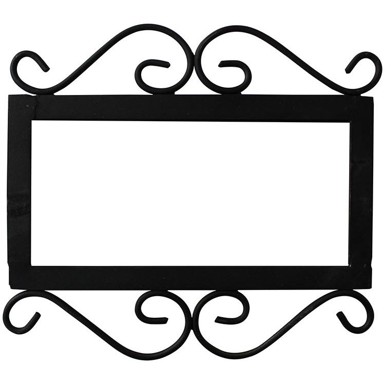 Decorative Tile Collection Wrought Ironhouse Number Frame