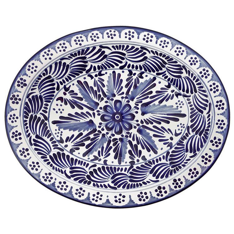 Deep Talavera Platter / Oval Serving Bowl