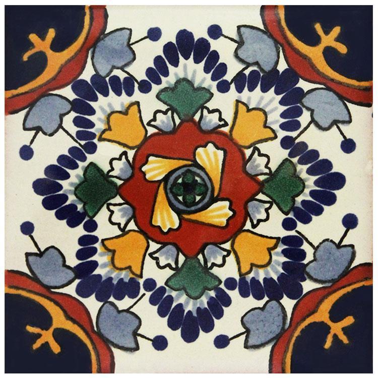 La Fuente Imports Nube Azul Hand Painted Talavera Tile 4