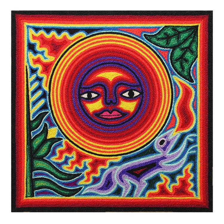 Huichol Yarn Art Collection - Huichol Yarn Painting - YP825