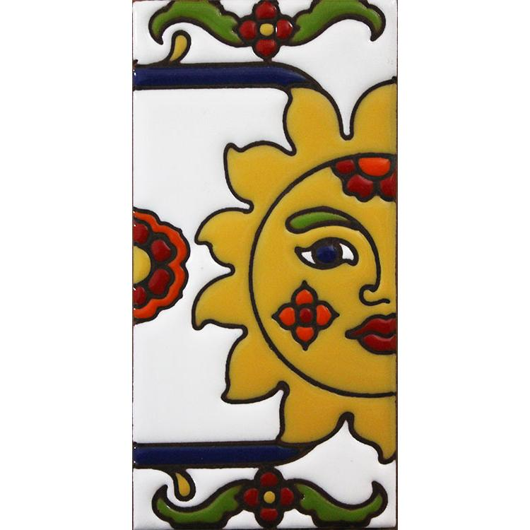 Right Side Border Tile:Yellow Sun