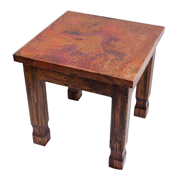 Nuevo End Table W Copper Top