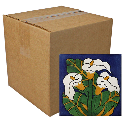 Calla Lilies Talavera Tile - Pack of 9