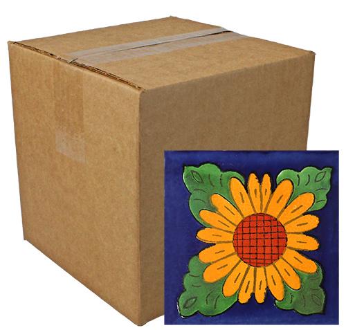 Girasol Especial Talavera Tile - Pack of 9