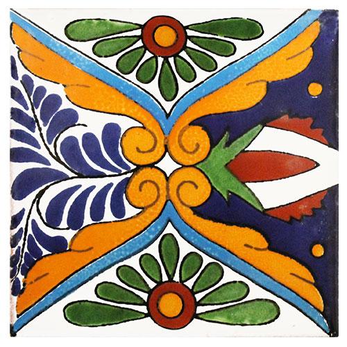 Rosaura Hand-Painted Talavera Tile