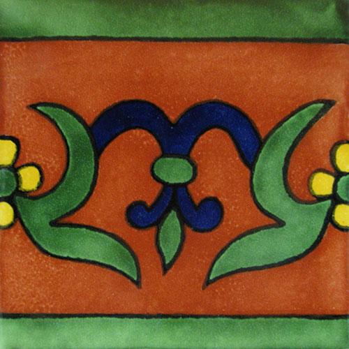 Cenefa Oh #4 Hand-Painted Talavera Tile