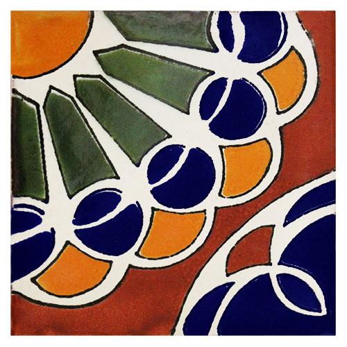 Abanico Hand-Painted Talavera Tile