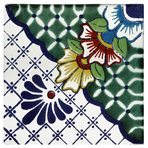 Gloria Verde Hand-Painted Talavera Tile