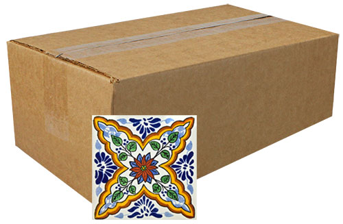 Con Ramas Hand Painted Tiles Box  Product Photo