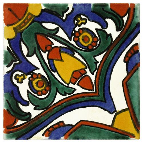 Carnaval Hand-Painted Talavera Tile