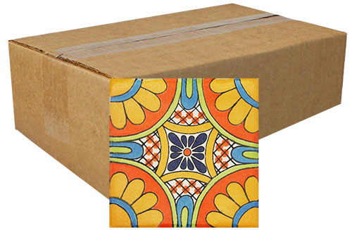 Girasoles Hand Painted Tiles Product Photo