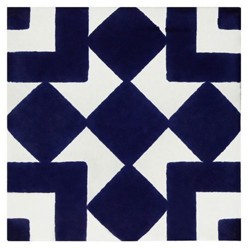 Diamante Azul Hand-Painted Talavera Tile