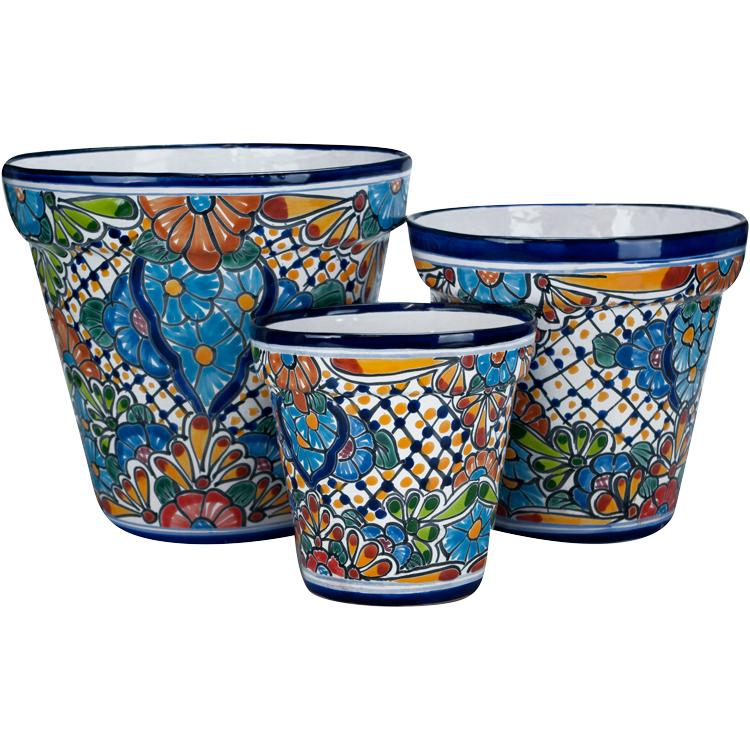Medium Talavera Planter Set