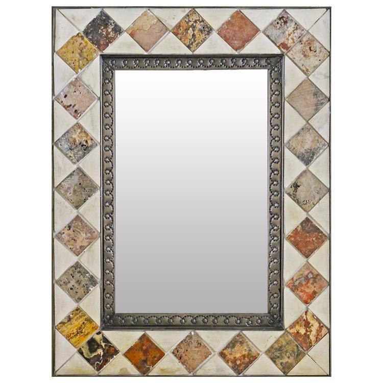 Marble & Onyx Talavera Tile Mirror