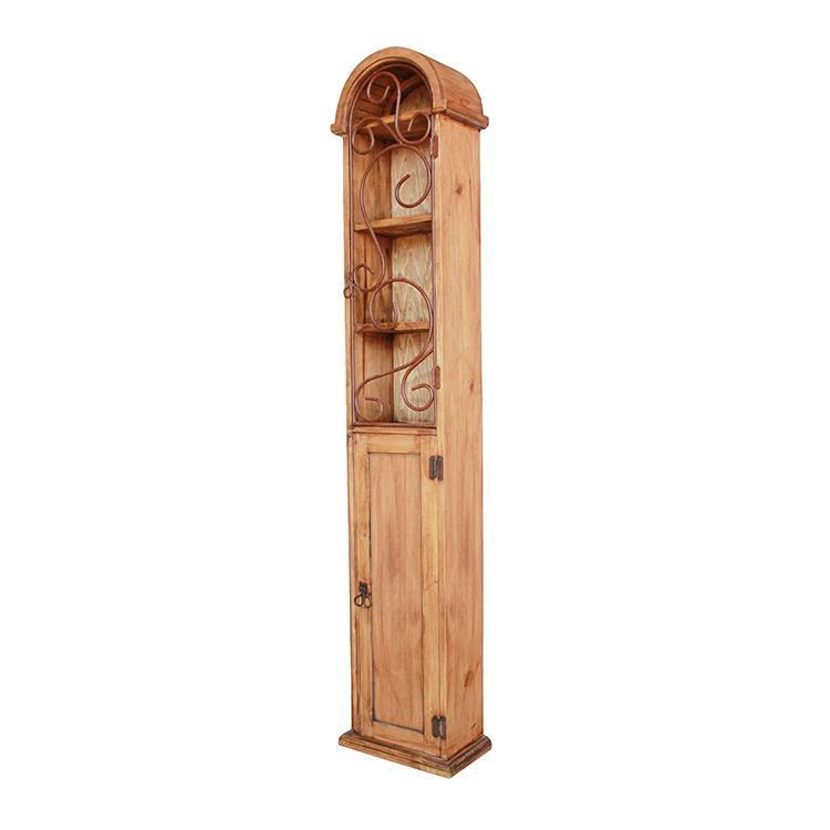 Mexican Rustic Pine Bossier Multimedia Storage Cabinet